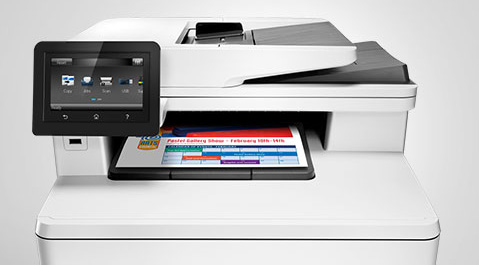 Display HP Laserjet Drucker